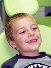 Edentulous Boy On Dental Preve...