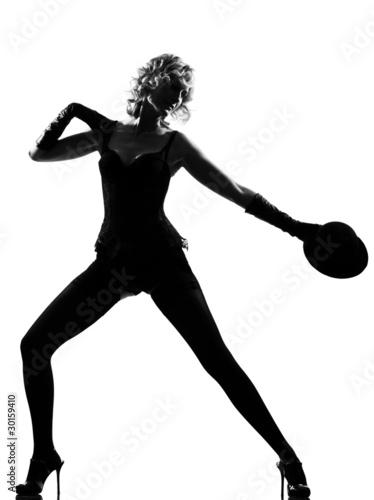 Photo  stylish silhouette woman dancing cabaret