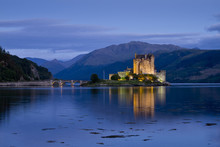 Loch Duich With Eilean Donan Castle, Twilight