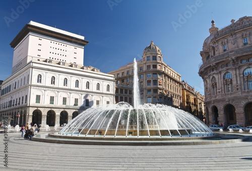Fotografie, Obraz  Piazza De Ferrari, Genova - De Ferrari square, Genoa, Italy
