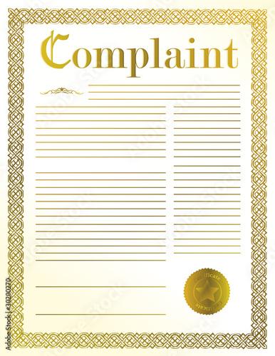 complaint Canvas Print