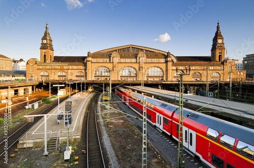 Poster Voies ferrées Hamburger Hauptbahnhof, Westseite