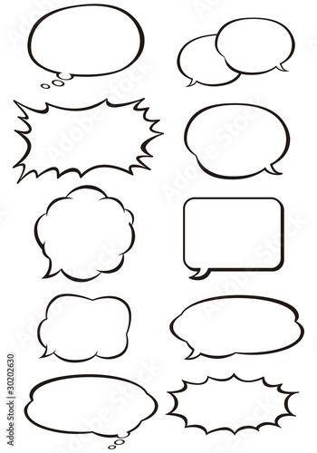 Fotografie, Obraz  comic speech bubbles