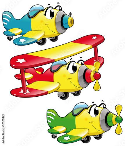 samoloty-z-kreskowek-smieszne-postacie-wektorowe-pojedyncze-obiekty