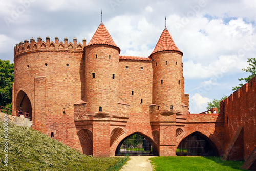 Barbican - Fortified medieval outpost - Warsaw  / Poland #30208860