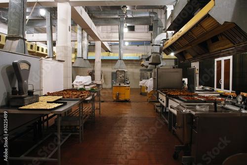 Foto op Canvas Restaurant Old industrial kitchen interior