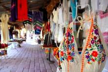 Handcrafts Market In Mexico Puerto Morelos
