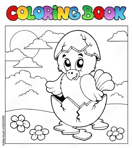 Türaufkleber Zum Malen Coloring book with Easter theme 3