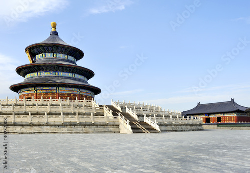 Foto op Aluminium Beijing The Imperial Vault of Heaven in the Temple of Heaven in Beijing,