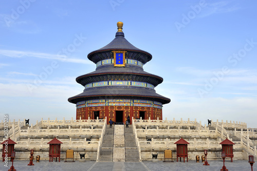 Spoed Foto op Canvas Beijing The Imperial Vault of Heaven in the Temple of Heaven in Beijing,