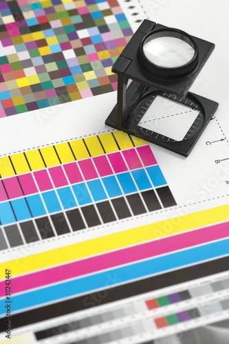 Fotografie, Obraz Printing loupe on proof