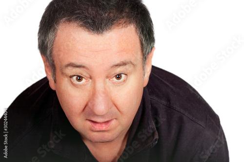 Mann schaut von unten nach oben 269 Stock Photo | Adobe Stock