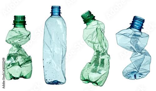 Fotografia, Obraz  empty used trash bottle ecology environment
