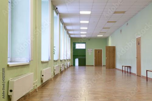 Fototapeta Пустые школьные коридоры. obraz na płótnie