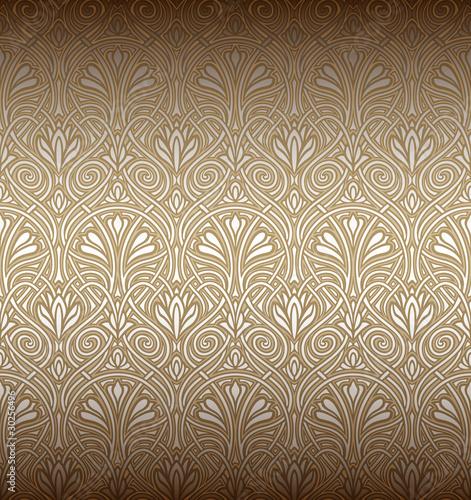 Fotografía  Seamless Art Nouveau pattern