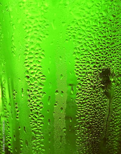 Naklejka - mata magnetyczna na lodówkę Green clover lucky beer background