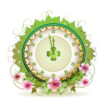 Clock Design With St. Patrick'...