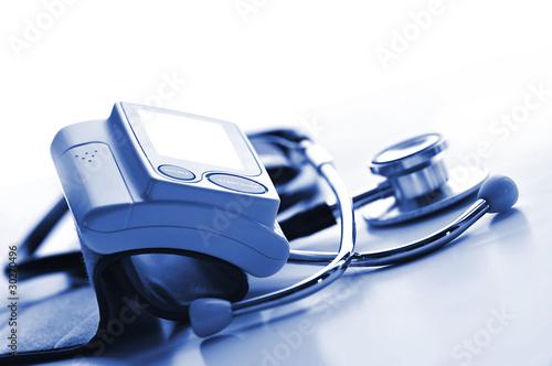 Obraz Ciśnieniomierz i stetoskop - fototapety do salonu