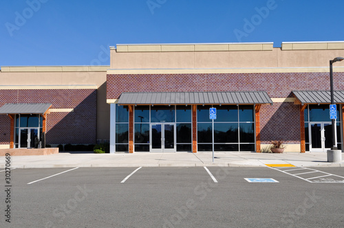 Fotografie, Obraz  New Shopping Center made of Brick Facade