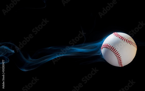 Smoking Baseball Wallpaper Mural