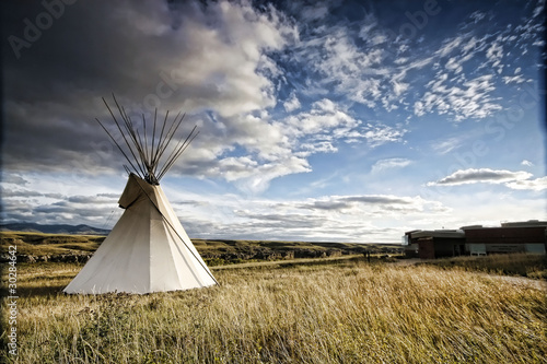 Photo Teepee Cloudscape
