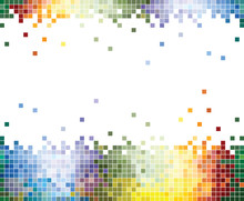 Colorful Pixel Abstract Background
