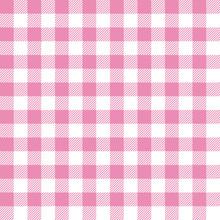Seamless Pattern Pink Check