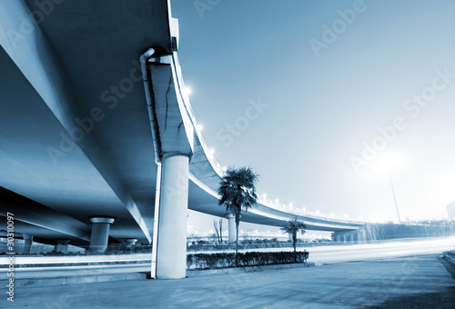 Photo Overpass Night