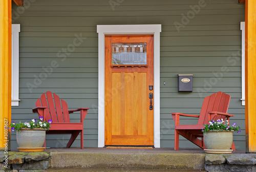 Fotografie, Obraz  New craftsman Home front