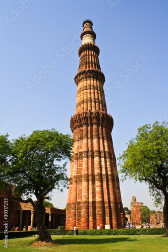 Qutb Minar in Delhi, India