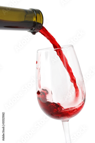 Wine pouring into the glass