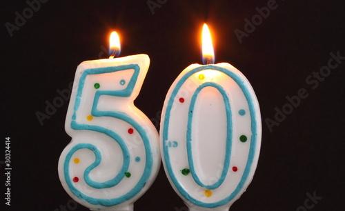 Birthday Candles 50th