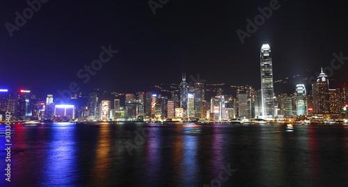 Photo  Hong Kong skyline at night