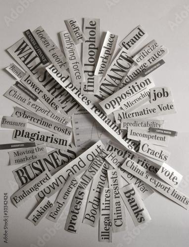 Fotobehang Kranten Close Up of News Paper Handlines