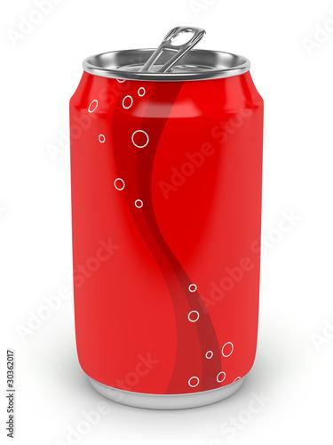 Fotografía  Canette de soda sur fond blanc 2