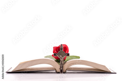 фотография  Love of the Holy Bible Concept Background with Custom Space