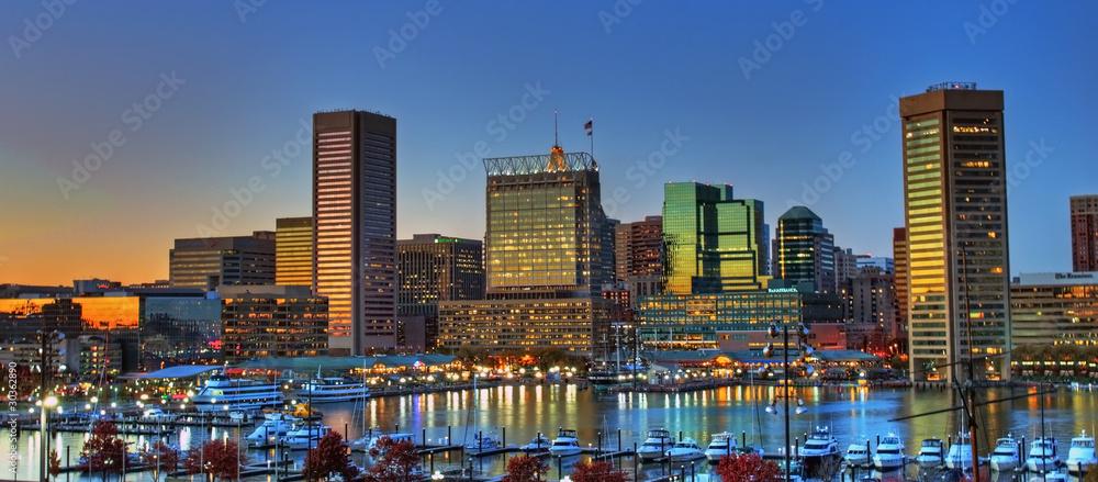 Fototapeta Baltimore Inner Harbor Sunset