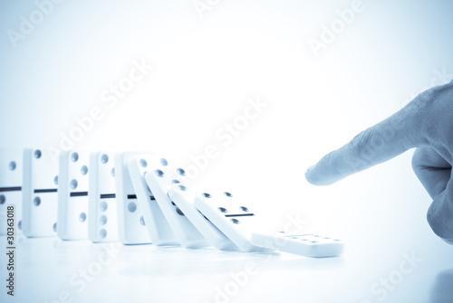 Fotografie, Obraz  The Domino Effect in Motion