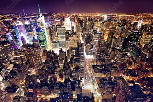 Widok Manhattanu z Empire State Building w Nowym Jorku,