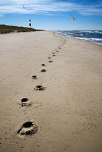 Footprints Sand And Surf