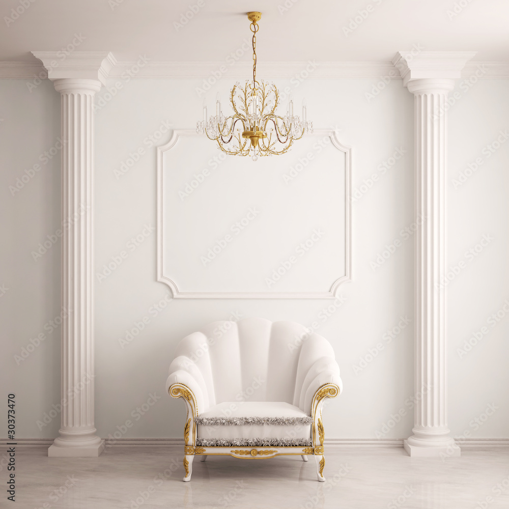 Fototapety, obrazy: Classical interior with an armchair