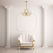 canvas print picture - Classical interior with an armchair