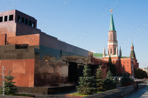 Mausoleum on the Red Square in Moscow, Russia Canvas Print