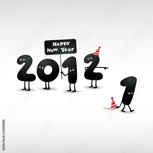 Funny 2012 New Year\'s Eve greeting card - Buy this stock vector and ...
