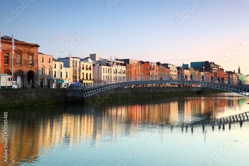 pedestrian bridge in Dublin Canvas Print