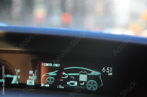 Hybrid-Motor, fahren Sie mit Benzin und Strom Fototapete