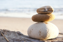 Rock Stack On The Beach With C...