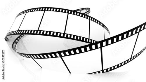 Papiers peints Retro Blank film strip drowning in white