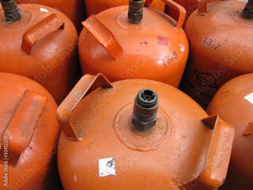 Fotografiet  Botellas de gas butano
