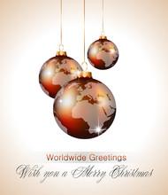 Worlds Christmas Baubles Backg...